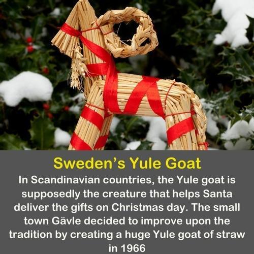 Sweden yule goat made of straws.
