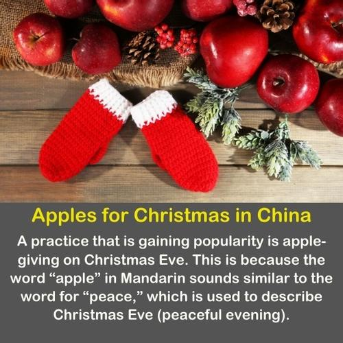 Red apples on Christmas in China.