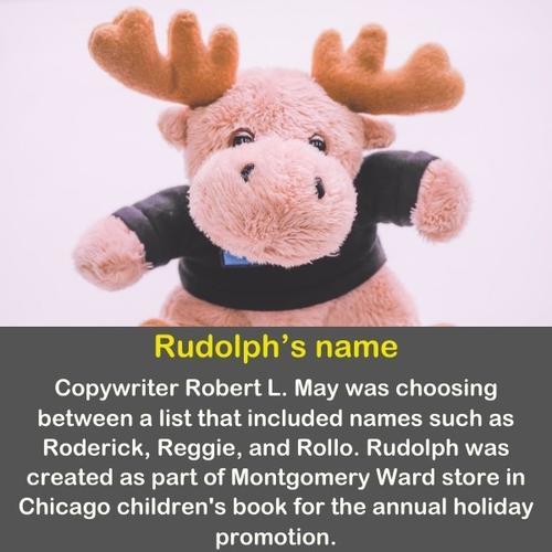 Rudolph the reindeer doll.