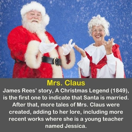 Santa Claus with Mrs. Claus.