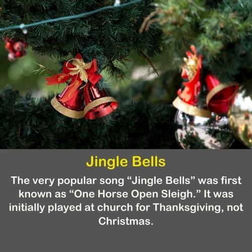 Jingle bells on Christmas tree.