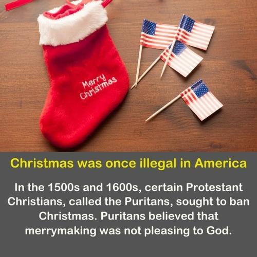 Christmas sock with American flags