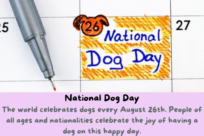 National Dog Day on the calendar.