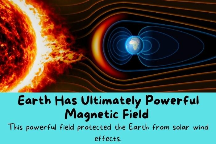 The magnetic field of the Earth.