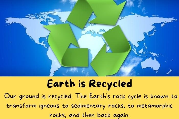 Earth is Recycled