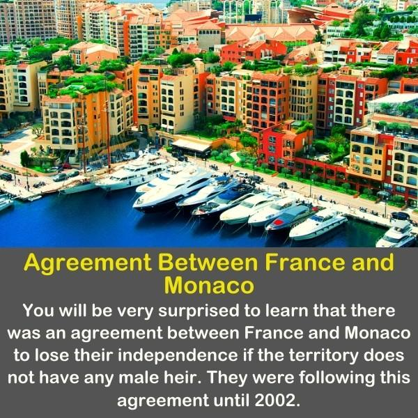 A beautiful and colorful image of Monaco with geography fact text.