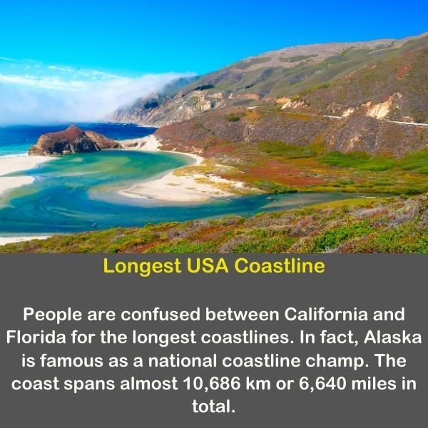 A coastline in the united states of america.