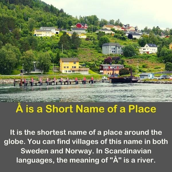 Geography fun fact - Å is a Short Name of a Place