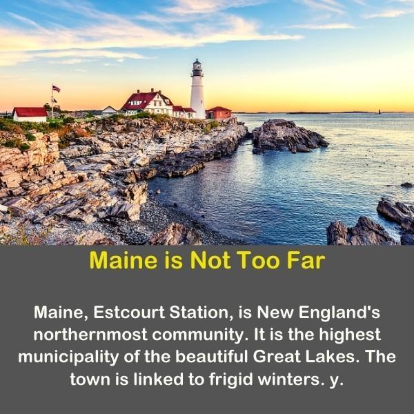 Geography fun fact 9 - a beautiful photo of the Maine coast.