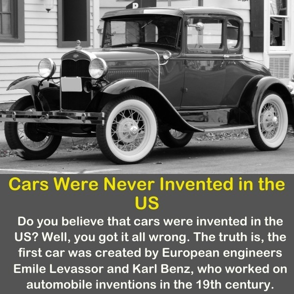 An old black car.