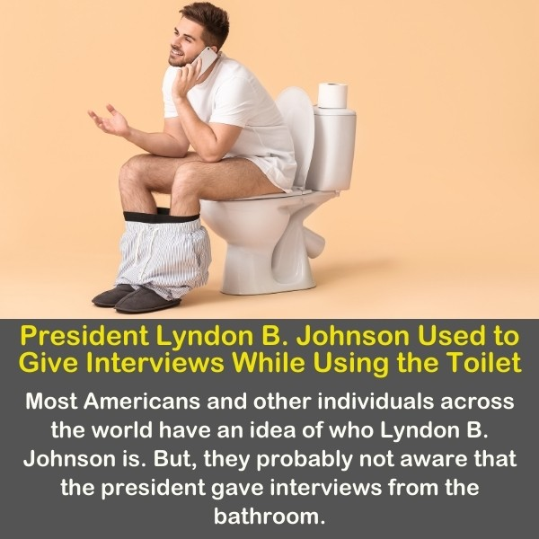 A person talking on the phone while on the toilet.