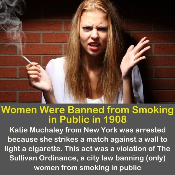A smoking woman with a funny angry face.