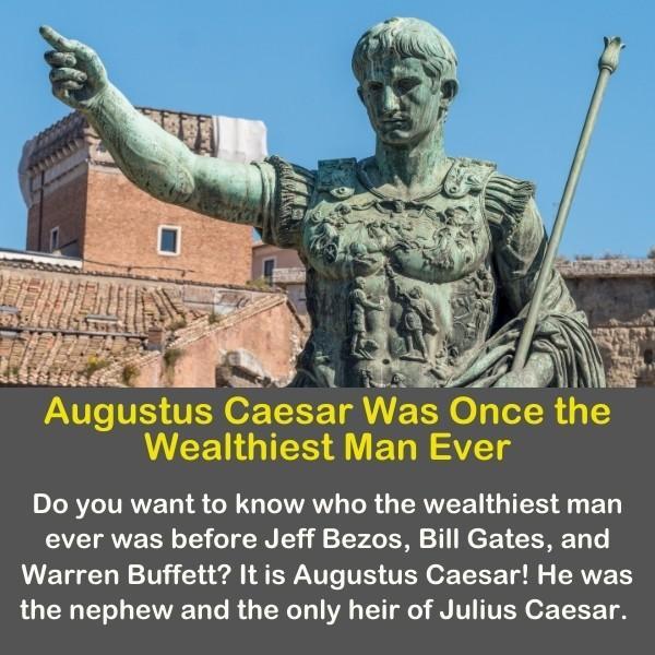 A statue of Augustus Caesar.
