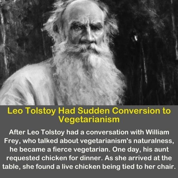 Leo Tolstoy with his long white beard.