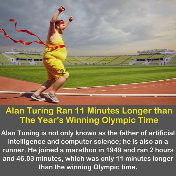 A funny man is running on the running court like he won the Olympics.