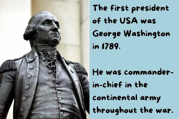 Statue of the first president of the USA - George Washington.