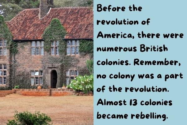 British colonies typical house.
