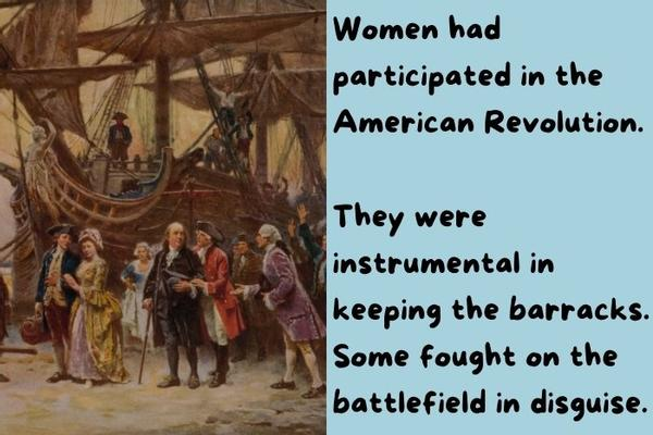 Women in the American Revolution painting.