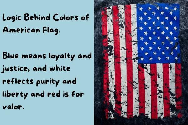American flag colors, illustrated on an old flag.