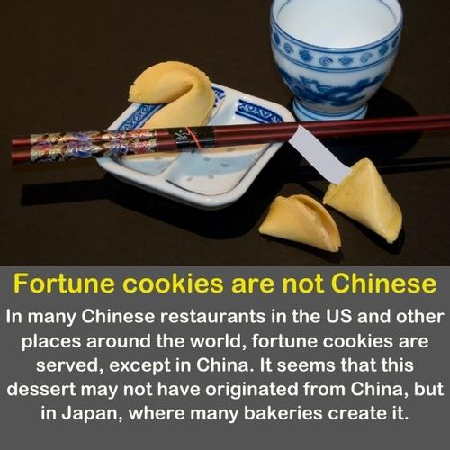Fortune cookie on a Japanese table.
