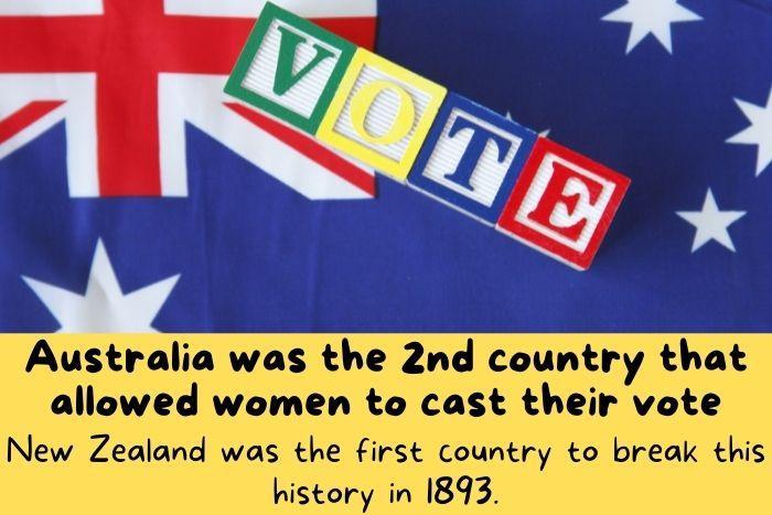 Voting with Australian flag.