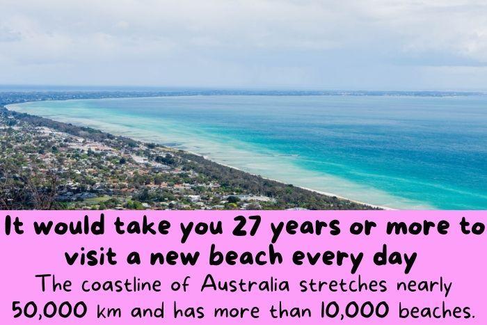 The coastline of Australia