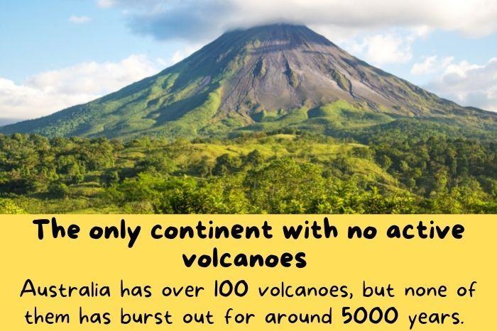 A non active volcano in Australia.