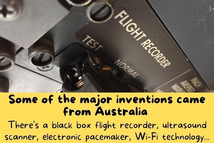 The black box was invented in Australia.
