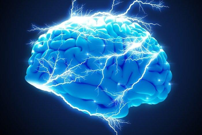 A brain with all the neurotransmitters.