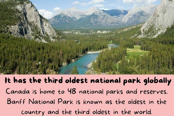 Banff National Park is known as the oldest in the country and the third oldest in the world