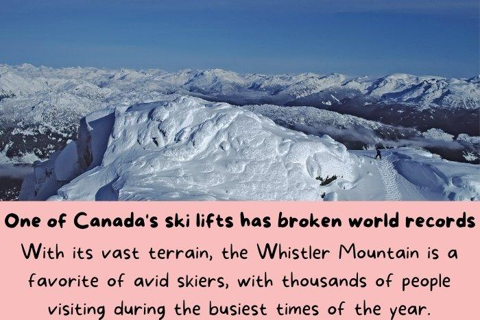 the Whistler Mountain is a favorite of avid skiers