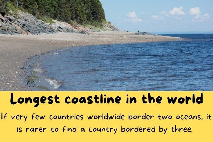 Canada has the longest coastline - one of many interesting facts about Canada.