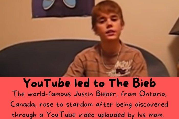 The first YouTube video of Justin Bieber