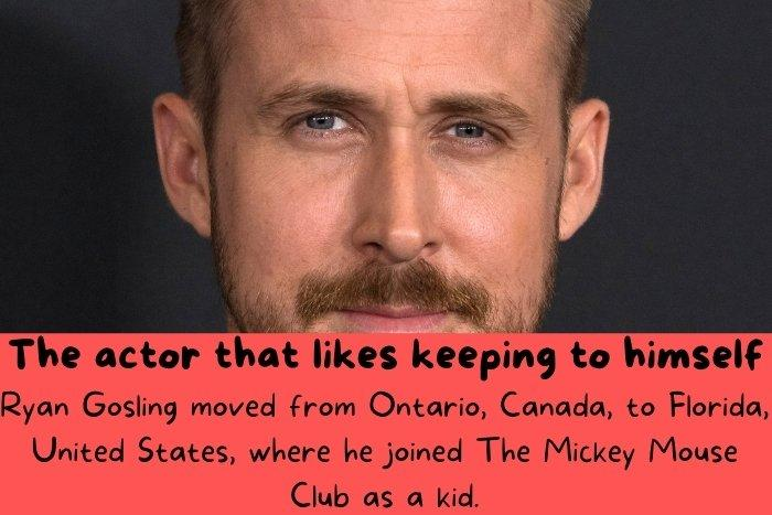 Ryan Gosling moved from Ontario, Canada, to Florida