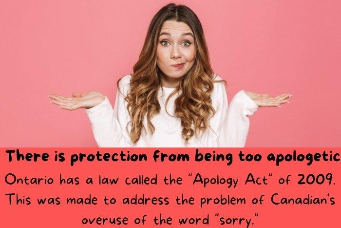 A funny woman apologizes.