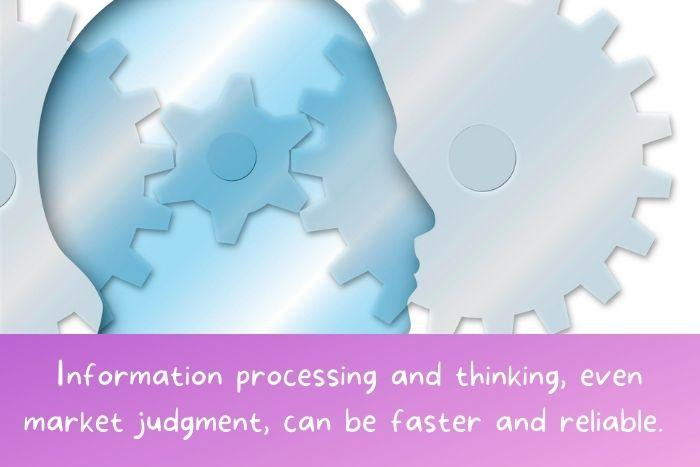 An illustration of a person processing is opinions.