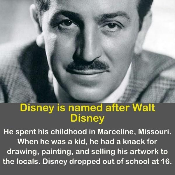 Walt Disney in an black and white image