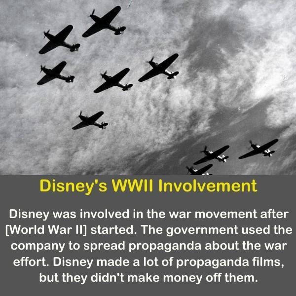 Disney's world war 2 Involvement - airplane in the sky.