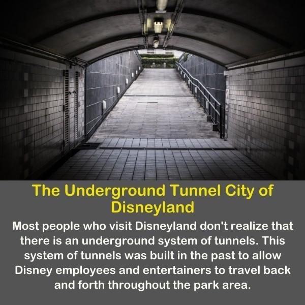 The Underground Tunnel City of Disneyland