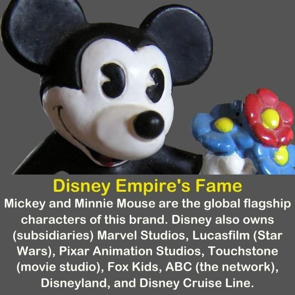 Mickey Mouse toy holding flowers.