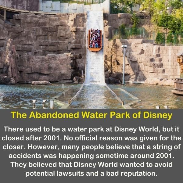 The abandoned water park of Disney.