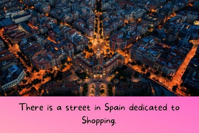 Spanish streets at night.