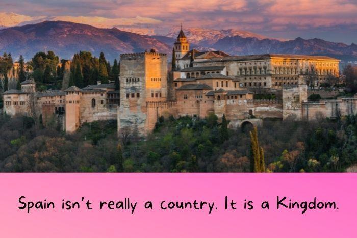 The Spanish Royal Palace of the kingdoms.