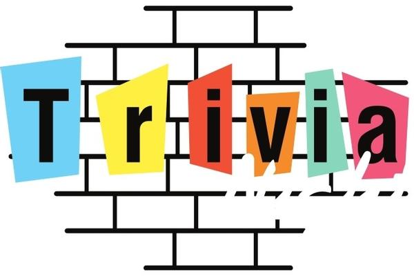 Illustration of the word trivia on a brick wall