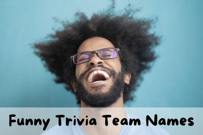 A man is laughing in a trivia quiz game