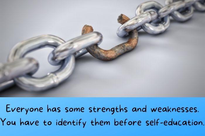 weaknesses of a steel chain.