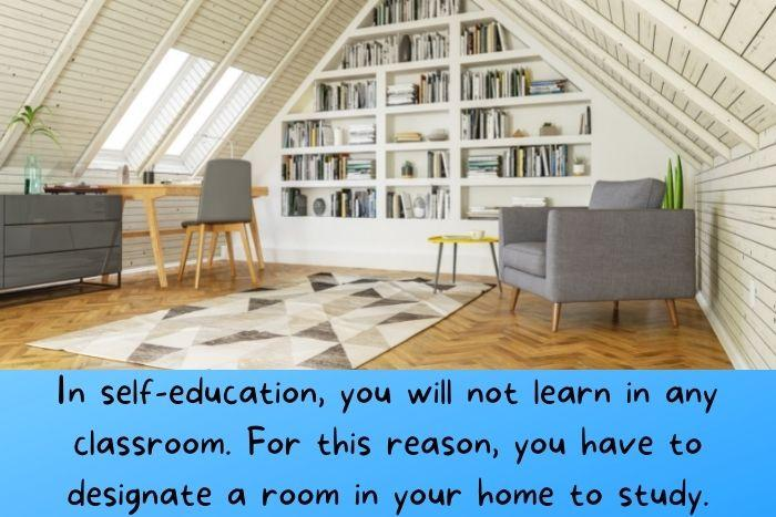 A study room for self education