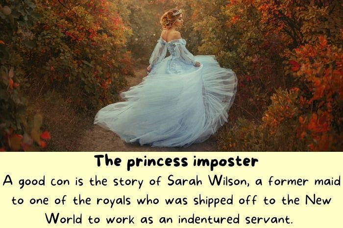 The Princess imposter in the woods.