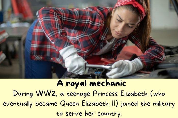 A woman mechanic.