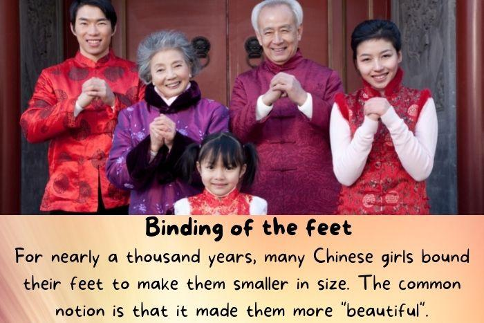 A Chinese family.